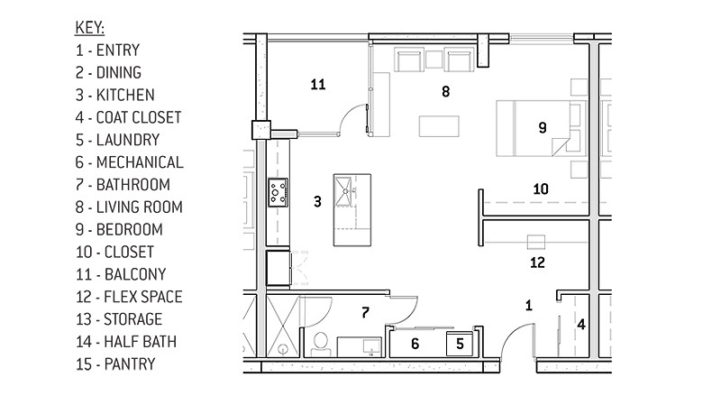Unit Type E floor plan
